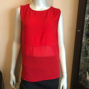 & Other Stories Red Snap Button Shoulder Tank Top